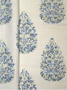 #4 Most Popular John Robshaw Fabric - Kedara Blue Green