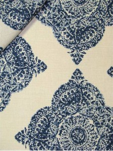 #1 Most Popular John Robshaw Fabric - Mani Indigo