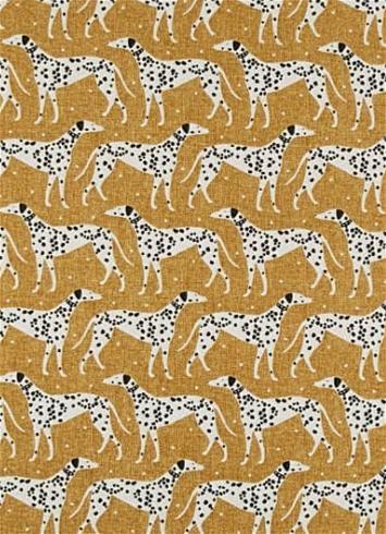 Dapper_Dalmatian_Mustard_Novogratz_Fabric
